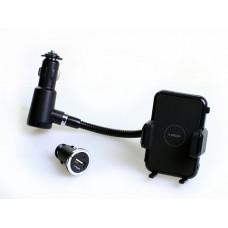 Держатель для телефона iPop Smart Tripple Holder, в прикуриватель, пластиковый, черный Il Shin 6IT3900208