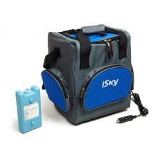 Холодильник автомобильный  16 л, сумка, с аккумулятором холода iSky iREF-16