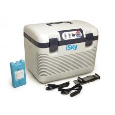 Холодильник автомобильный  18 л, пластиковый, с аккумулятором холода iSky iREF-18