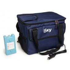 Холодильник автомобильный  24 л, сумка, с аккумулятором холода iSky iREF-24B