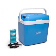 Холодильник автомобильный  32 л, пластиковый, с аккумулятором холода iSky iREF-32P