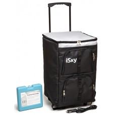 Холодильник автомобильный  45 л, сумка, с аккумулятором холода iSky iREF-45B
