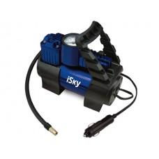 Компрессор автомобильный металлический  35 лмин, с доп. клапаном iSky iAC-35V