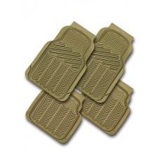 Коврики в салон, ПВХ, бортик 1 см  WAVE к-т 4 шт., беж. iSky iPM-02(BE)