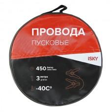 Провода прикуривания  450 Амп., 3 м, в сумке iSky iJL-450