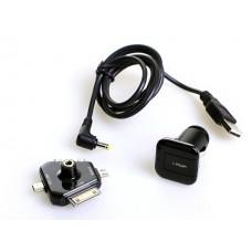 Зарядка для телефона I-Pop 4 Way Charger, 4 штекера, разъем USB, черный Il Shin 6FC0400152