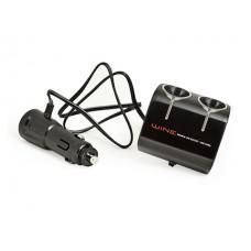Разветвитель прикуривателя Wine USB & Triple Socket, 2 гнезда, с USB-входом, черный Autoban AW-Z02