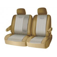 Чехлы на средний или задний ряд сидений из полиэстера  SPECIAL, серия для микроавтобусов и минивэнов, поролон 5 мм, 9 предм., беж. Kaiteki USC-PTL-002(B)