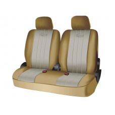 Чехлы на средний или задний ряд сидений из полиэстера  SPECIAL, серия для микроавтобусов и минивэнов, поролон 5 мм, 6 предм., беж. Kaiteki USC-PTL-005(B)