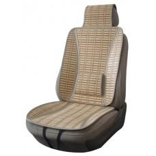Накидки из бамбука на передние сиденья  PANDA, упор под поясницу, 2 шт.,беж. iSky iBK-09