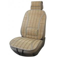 Накидка из бамбука на переднее сиденье iSky PANDA, упор под поясницу и шею, 1 шт.,беж. iSky iBK-12