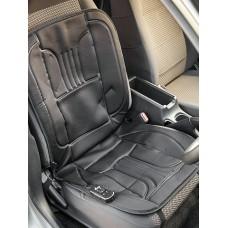 Накидка с массажем и подогревом на переднее сиденье  AFRICA, плотный полиэстер, 12/220 V, 3 вибромотора, датчик защиты от перегрева, р-р 98х49 см, 1 шт.,черн. iSky iHM-01BK
