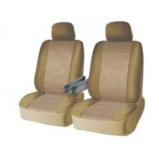 Чехлы на передний ряд сидений из велюра  CONSTRUCTOR, серия для микроавтобусов и минивэнов, поролон 5 мм, 10 предм., беж. iSky iSV-SP-01BE