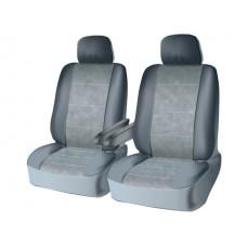 Чехлы на передний ряд сидений из велюра  CONSTRUCTOR, серия для микроавтобусов и минивэнов, поролон 5 мм, 10 предм., сер. iSky iSV-SP-01GR