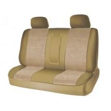 Чехлы на задний ряд сидений из велюра  CONSTRUCTOR, серия для микроавтобусов и минивэнов, поролон 5 мм, 5 предм., беж. iSky iSV-SP-04BE