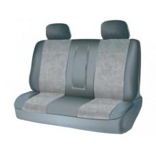 Чехлы на задний ряд сидений из велюра  CONSTRUCTOR, серия для микроавтобусов и минивэнов, поролон 5 мм, 5 предм., сер. iSky iSV-SP-04GR