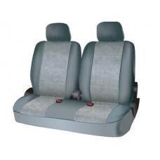 Чехлы на средний или задний ряд сидений из велюра  CONSTRUCTOR, серия для микроавтобусов и минивэнов, поролон 5 мм, 6 предм., сер. iSky iSV-SP-05GR