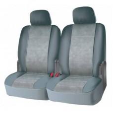 Чехлы на задний ряд сидений из велюра  CONSTRUCTOR, серия для микроавтобусов и минивэнов, поролон 5 мм, 6 предм., сер. iSky iSV-SP-06GR
