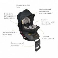 Кресло детское автомобильное Kurutto NT2 Premium, группа 0+/1, черное Carmate ALB860E