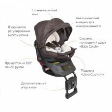 Кресло детское автомобильное Kurutto NT2 Premium, группа 0+/1, коричневое Carmate ALB861E