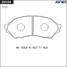 Колодки тормозные дисковые Advics SN104