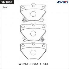 Колодки тормозные дисковые Advics SN106P