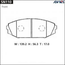 Колодки тормозные дисковые Advics SN110