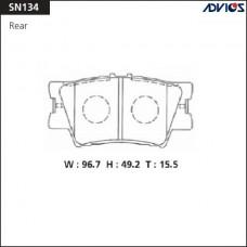 Колодки тормозные дисковые Advics SN134