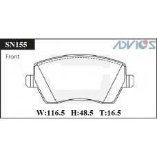Колодки тормозные дисковые Advics SN155