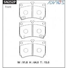 Колодки тормозные дисковые Advics SN252P