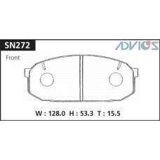 Колодки тормозные дисковые Advics SN272