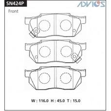Колодки тормозные дисковые Advics SN424P