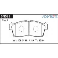 Колодки тормозные дисковые Advics SN589