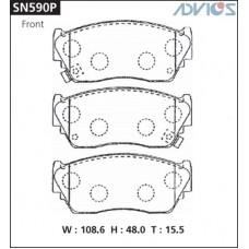 Колодки тормозные дисковые Advics SN590P