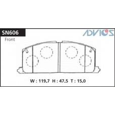 Колодки тормозные дисковые Advics SN606