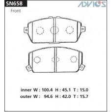 Колодки тормозные дисковые Advics SN658