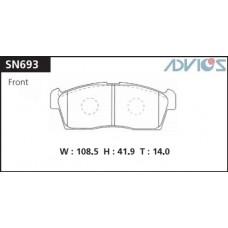 Колодки тормозные дисковые Advics SN693