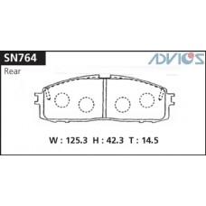 Колодки тормозные дисковые Advics SN764