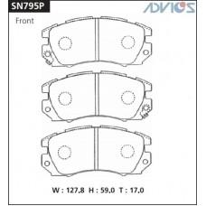 Колодки тормозные дисковые Advics SN795P