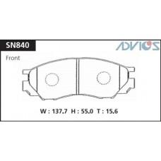 Колодки тормозные дисковые Advics SN840