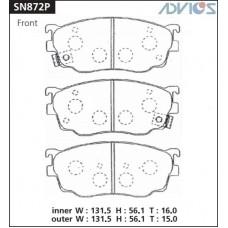 Колодки тормозные дисковые Advics SN872P