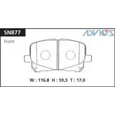 Колодки тормозные дисковые Advics SN877