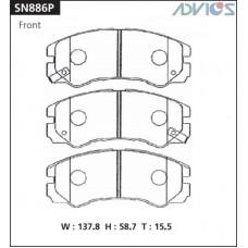 Колодки тормозные дисковые Advics SN886P