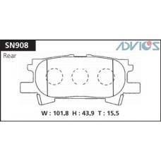 Колодки тормозные дисковые Advics SN908