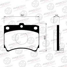 Колодки тормозные дисковые Avantech AV012