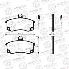 Колодки тормозные дисковые Avantech AV021