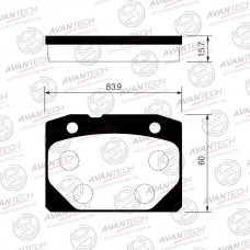 Колодки тормозные дисковые Avantech AV023