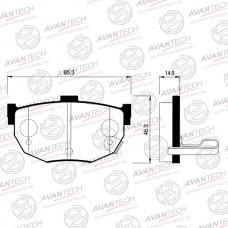 Колодки тормозные дисковые Avantech AV025