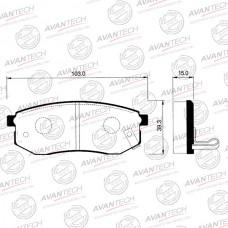Колодки тормозные дисковые Avantech AV065