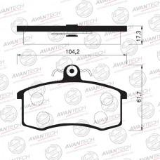 Колодки тормозные дисковые Avantech AV083